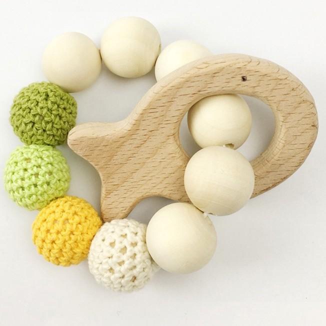 anneau dentionn bébé en bois