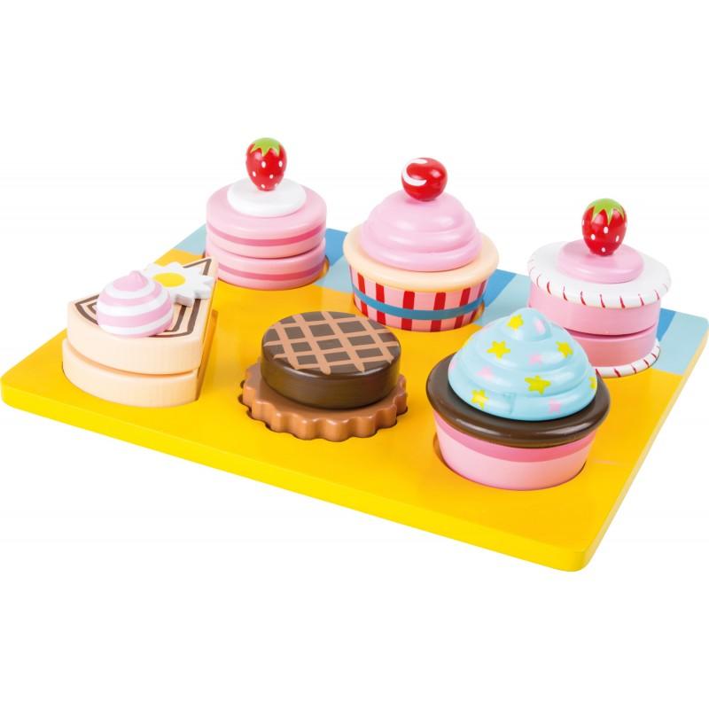 Plateau de cupcakes en bois