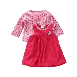 Pink Heart dress set