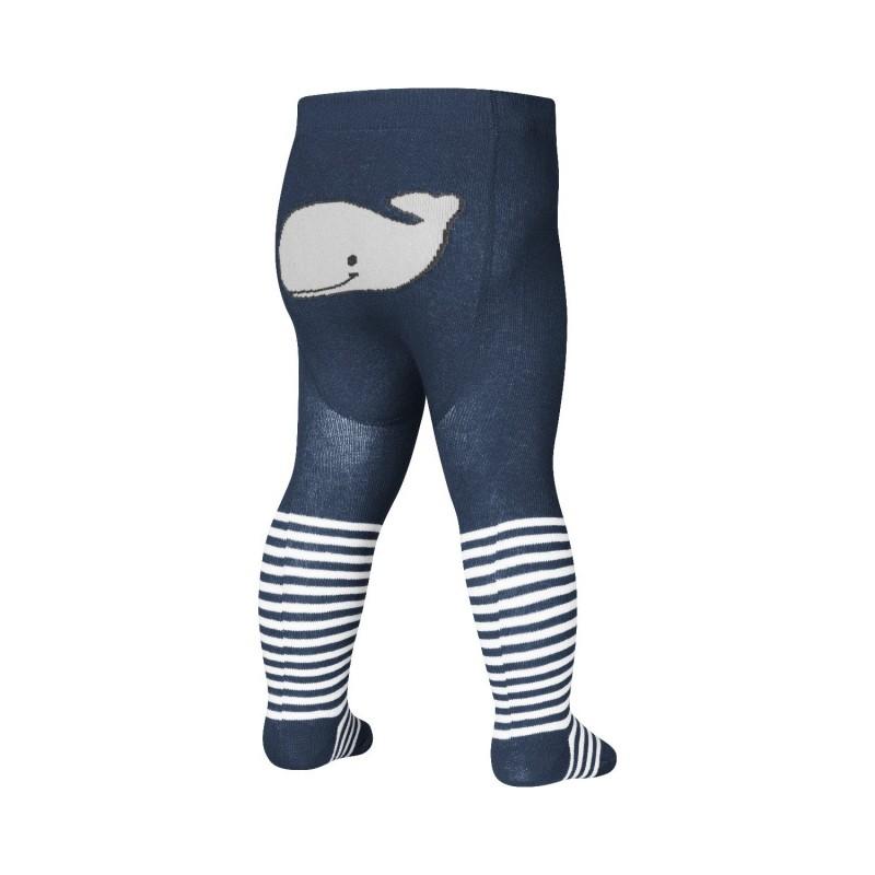 Collant Baleine - Bleu