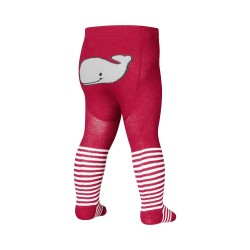 Whale tights - Red