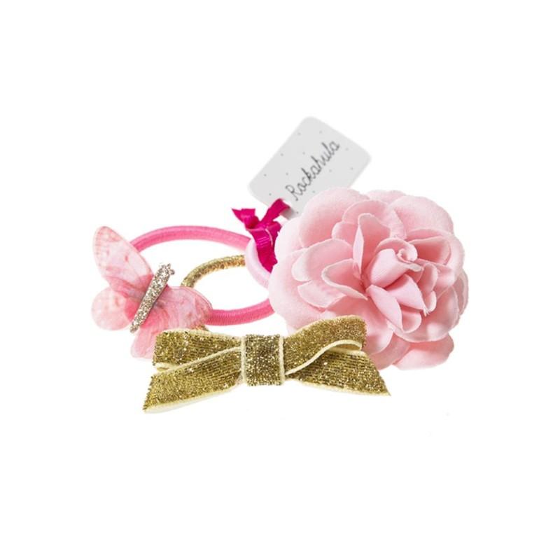 Elastiques Papillons roses