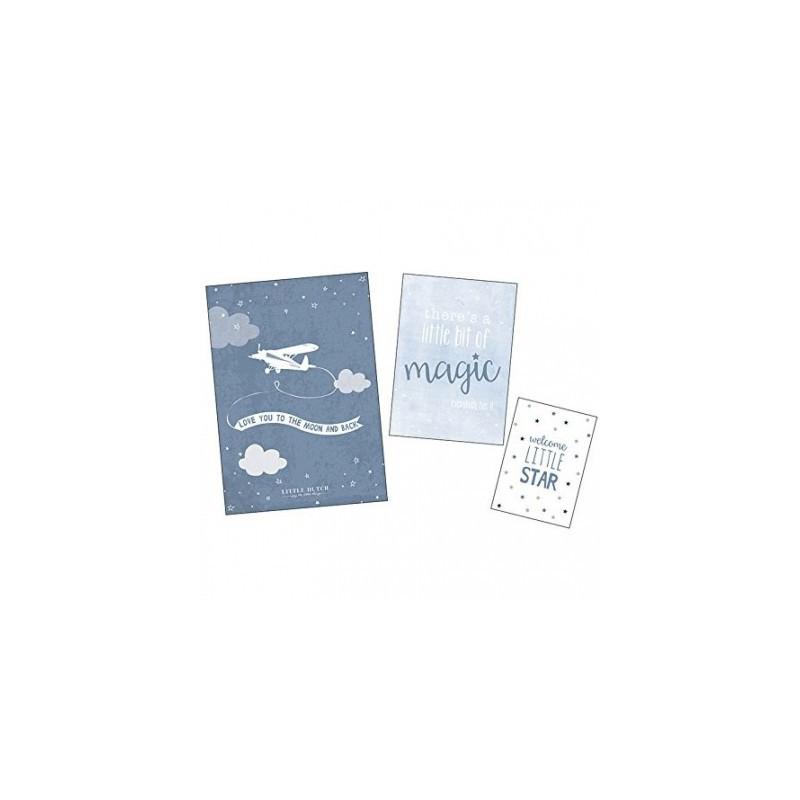 Poster & cartes BLUE, set de 3