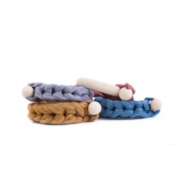 Braided wooden teether