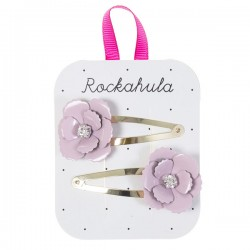 Flower clips pink