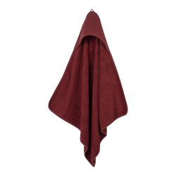 Hooded towel INDIAN RED