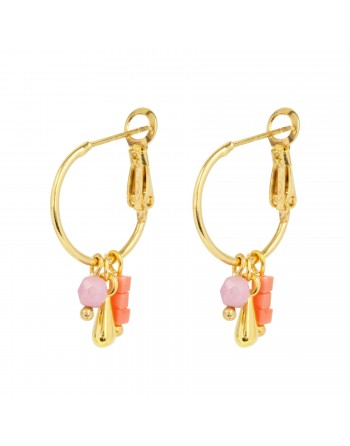 Earrings Pink Drip