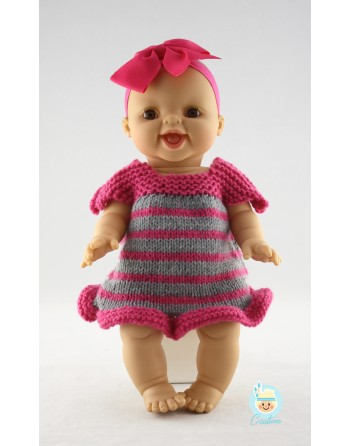 Wool dress for doll