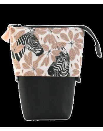 Trousse pot à crayons - Zèbres