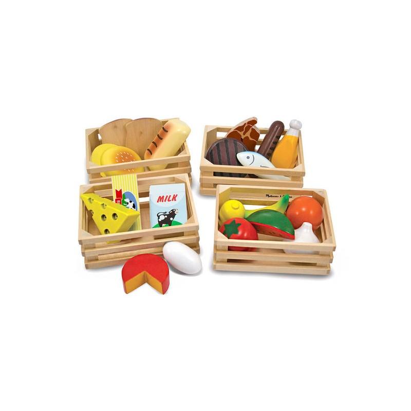 Groupes d'aliments en bois