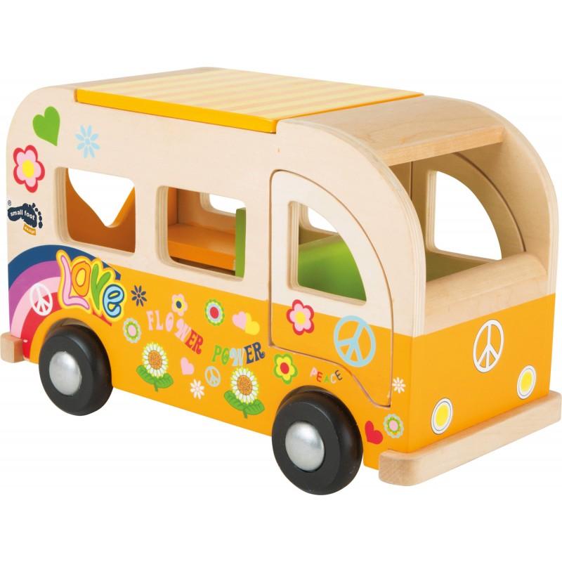 Bus Hippie en bois