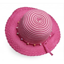 Colored straw hat