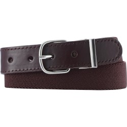 Brown elastic leather belt